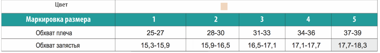 таблица размеров валенто